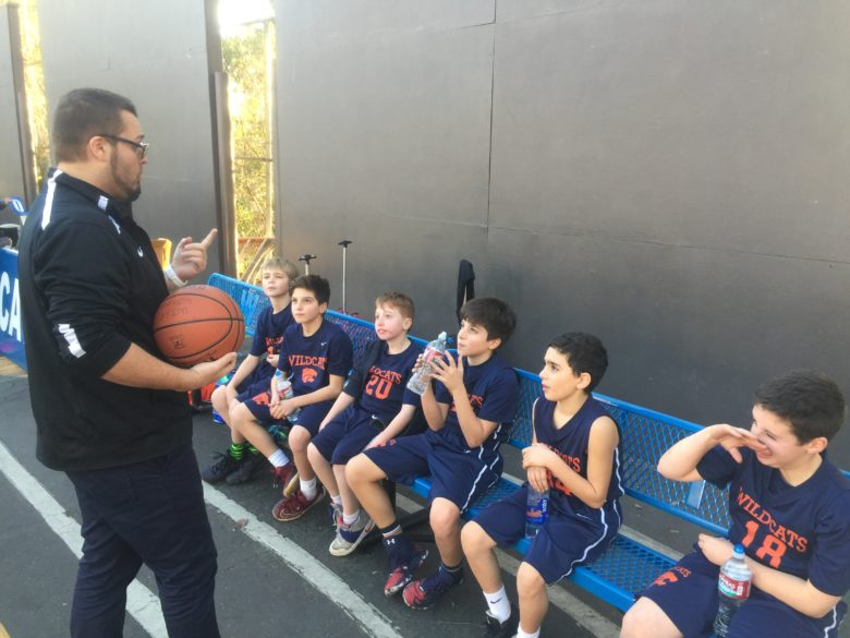 5th Boys White Basketball - Bench